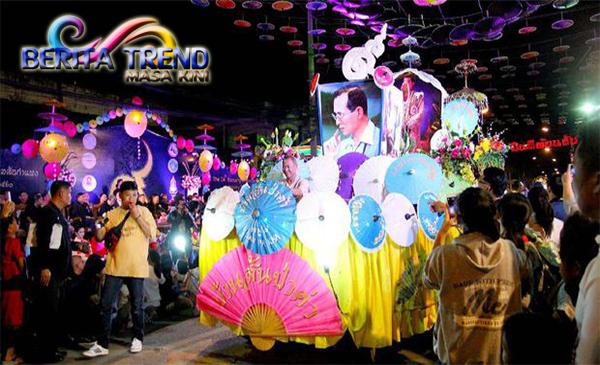 Indonesia Menampilkan Kostum Dayak & Mentawai di Parade Festival Payung Bo Sang