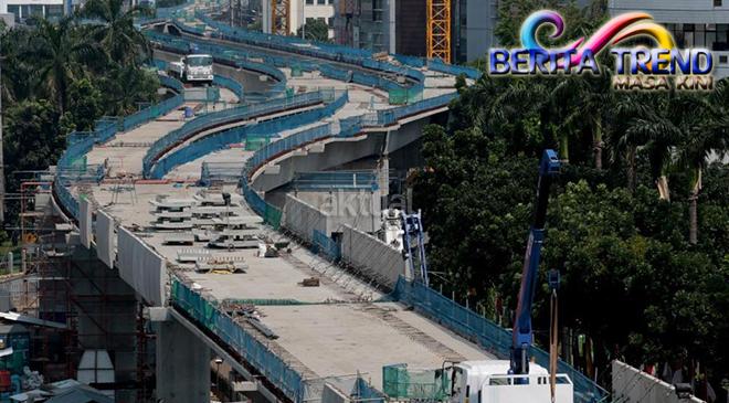 Jakarta Mulai Memasang Rel MRT