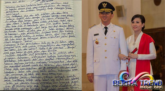 Ahok Memberikan Surat Untuk Vero Rayakan HUT Pernikahan