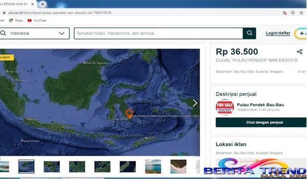 Sebuah Pulau di Buton Dijual di Situs Jual Beli Online, Warga Akan Lapor Polisi